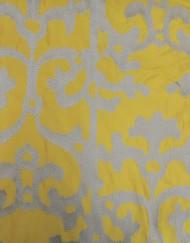 Tela raso bordado amarillo