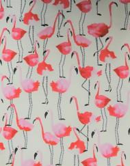 Tela satén algodón estampado flamencos