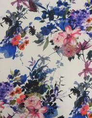 Tela twill estampado flores