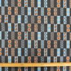 Tela jacquard mosaicos naranja