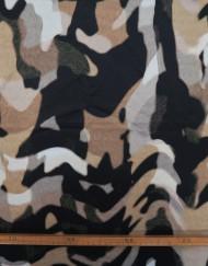 Tela seersucker camuflaje
