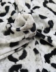 Tela terciopelo leopardo gris