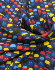 Tela marrocain bolsos azul