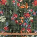 Tela marrocain estampado escocés flores