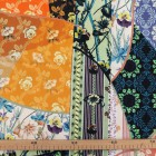Tela seda estampado patchwork naranja