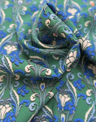 Tela seda stretch estampado verde