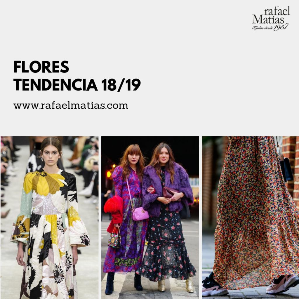 Flores Print. Tendencias 2018/19.